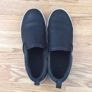 Marc by Marc jacobs black leather slip on sneakers